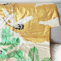 Repurposed antique wedding kimono