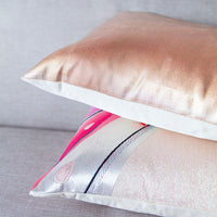 Rose Gold Cushion Cream Silk Back Upcycled Vintage Silk Obi