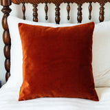 rust velvet pillow sham
