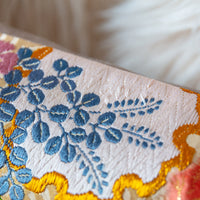 fine silk thread embroidery -some pulls visible