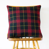Tartan Cushion Grey Wool Back