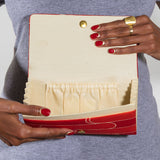 Vintage Clutch Bag Interior showing Internal Pockets