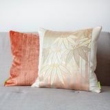 Vintage gold bamboo pillow