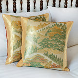 vintage Japanese obi pillows