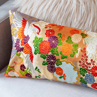 Wedding Kimono cushion with metallic embroidery