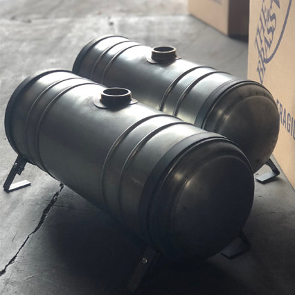 fuel tank 9 gallon steel with spun ends