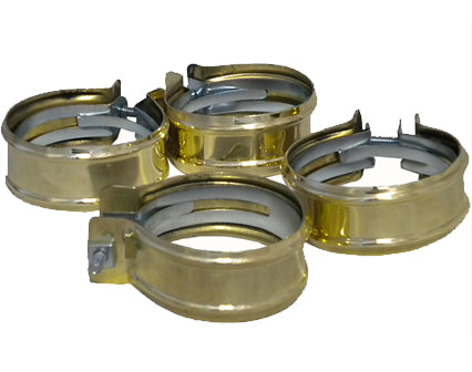 polished brass hose clamps