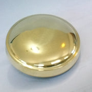 Radiator Cap - domed - spun brass - polished brass