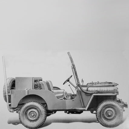 Jeep Willys 1949-1953 CJ-3A Radiator
