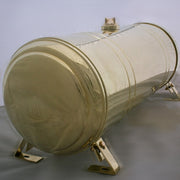 fuel tank 9 gallon polished brass with spun ends