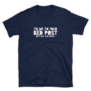 Tie Me To Your Bedpost (Black/Navy) T-Shirt