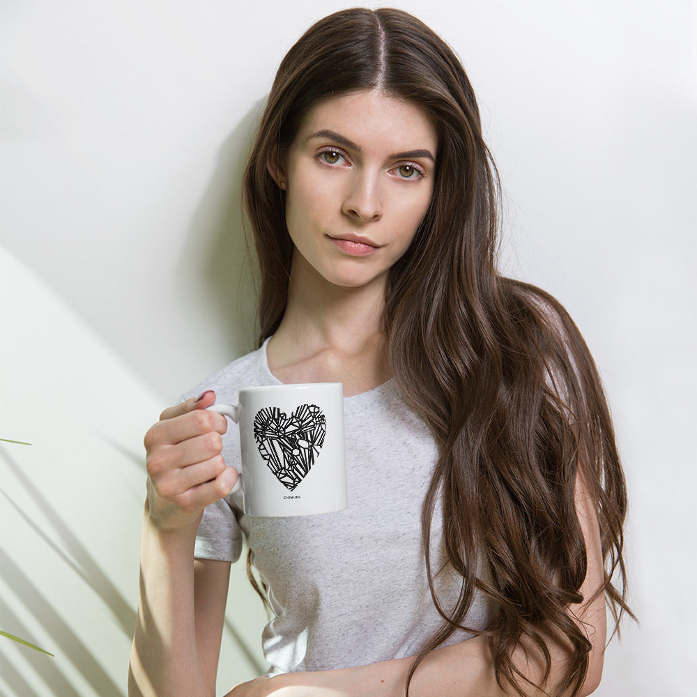 """Crystal Heart"" Coffee Mug"