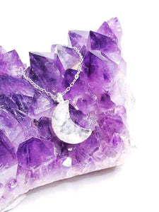 Druzy Moon Necklace