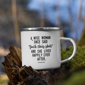 """Happily Ever After"" Enamel Mug"