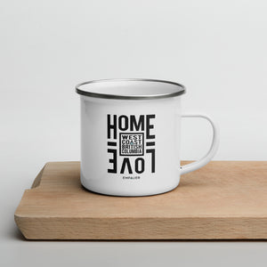 """Home Love, West Coast"" Enamel Mug"