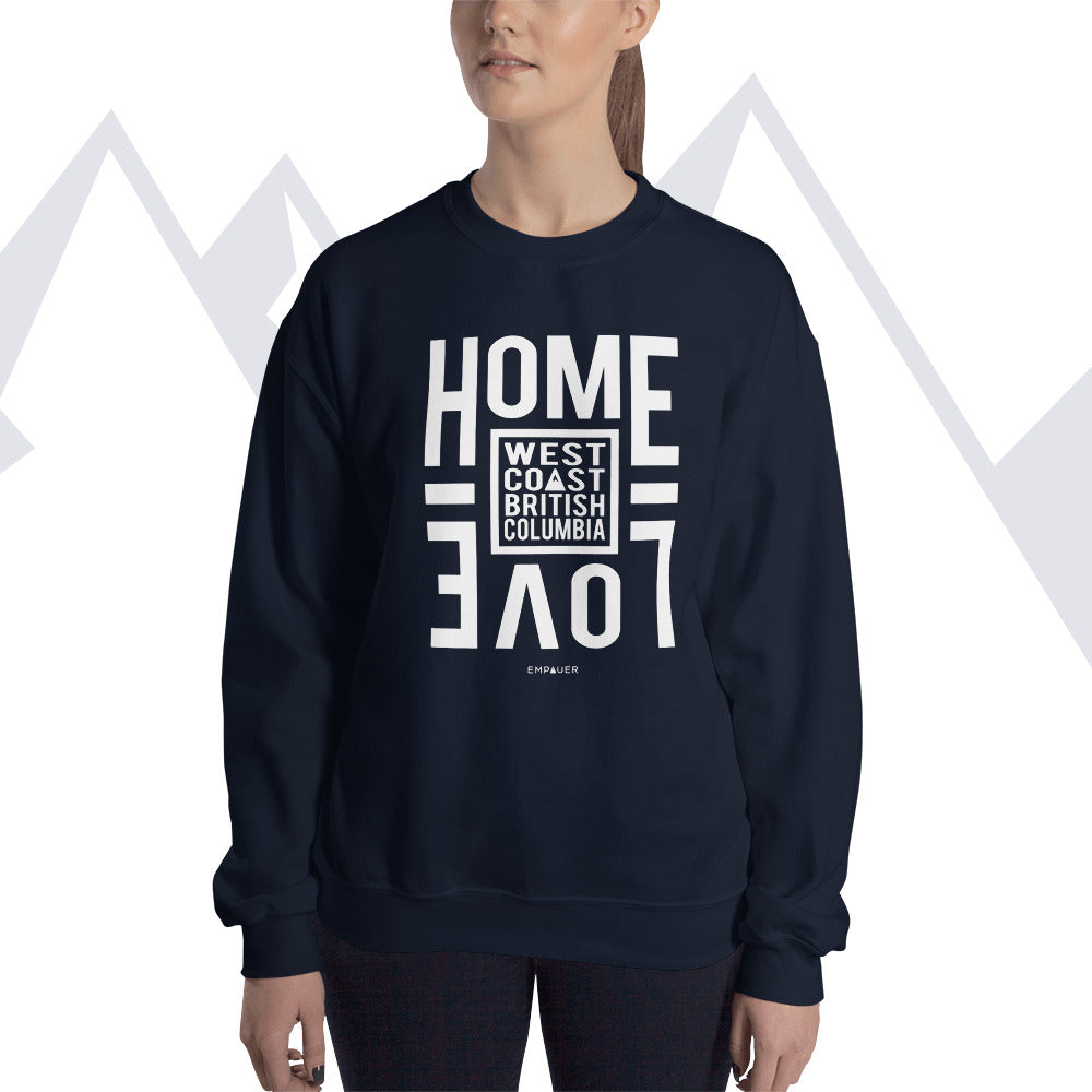 """Home Love, West Coast"" Sweatshirt"