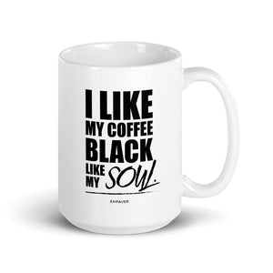 """I Like My Coffee Black"" Coffee Mug"