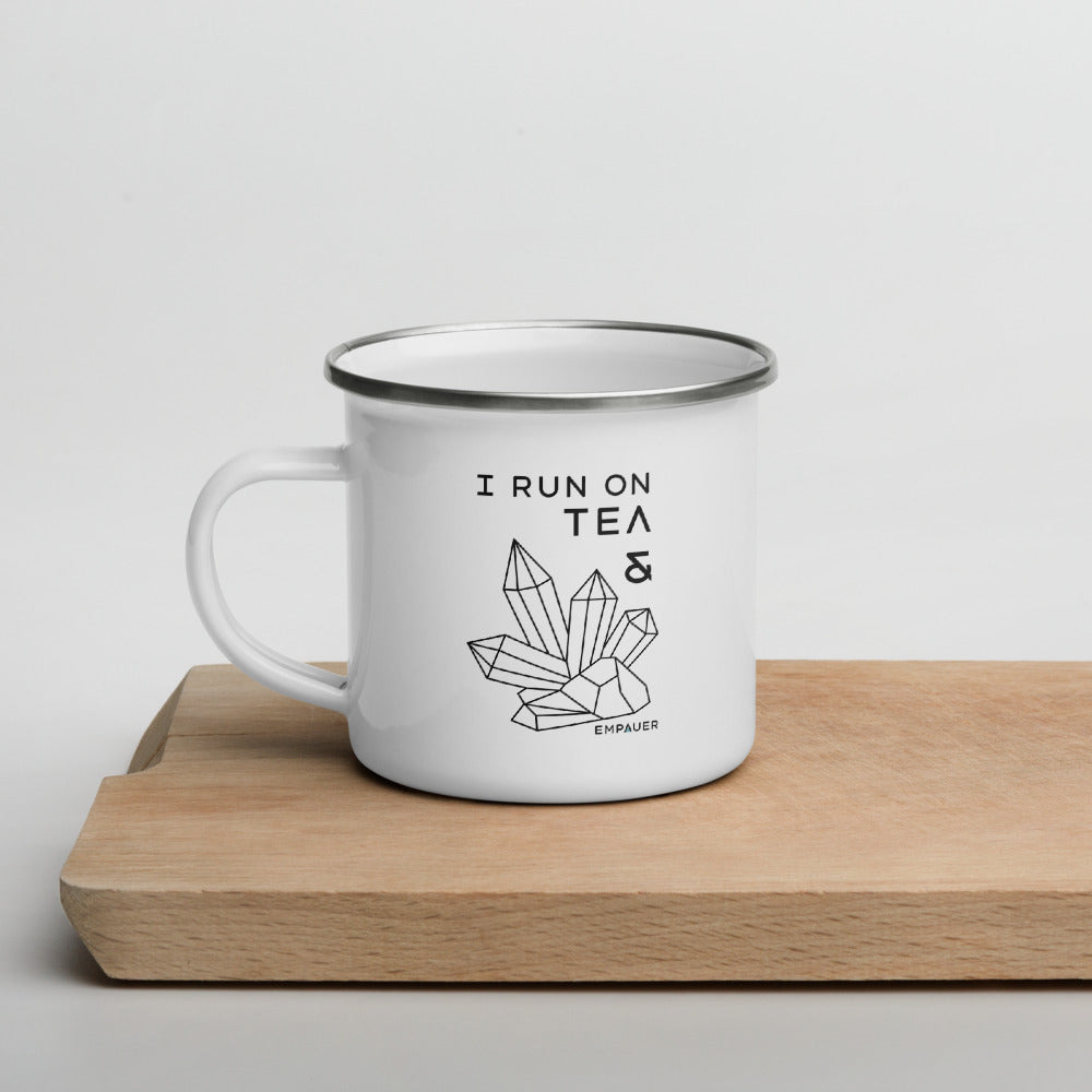 """Tea and Crystals"" Enamel Mug"