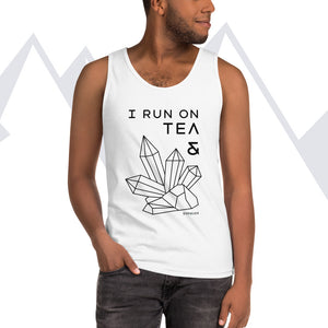 """Tea and Crystals"" Men's Muscle Tank"