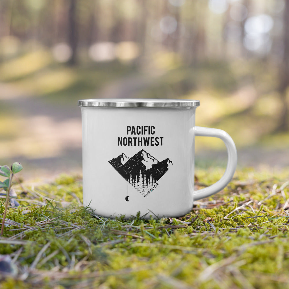 """Pacific Northwest"" Enamel Mug"