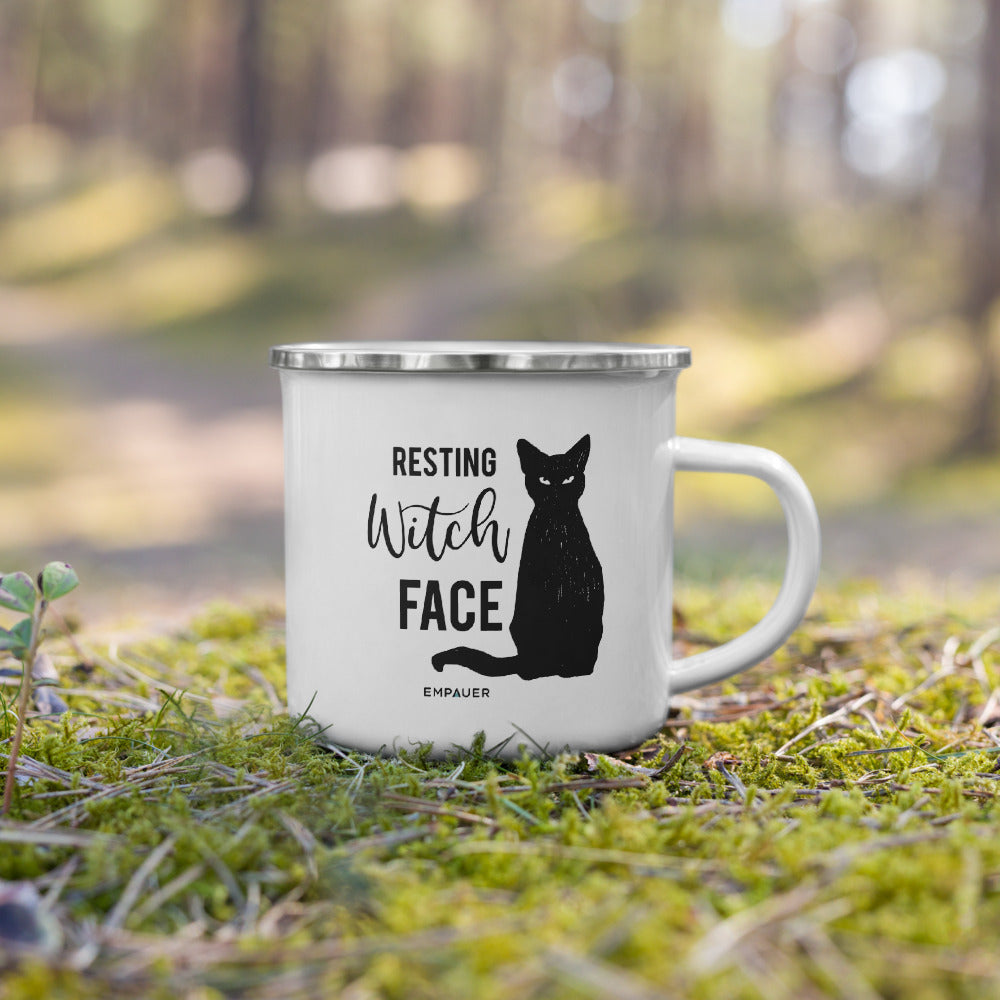 """Resting Witch Face"" Enamel Mug"