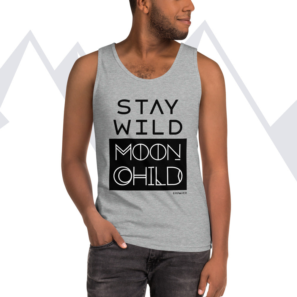 """Stay Wild Moon Child"" Men's Muscle Tank"
