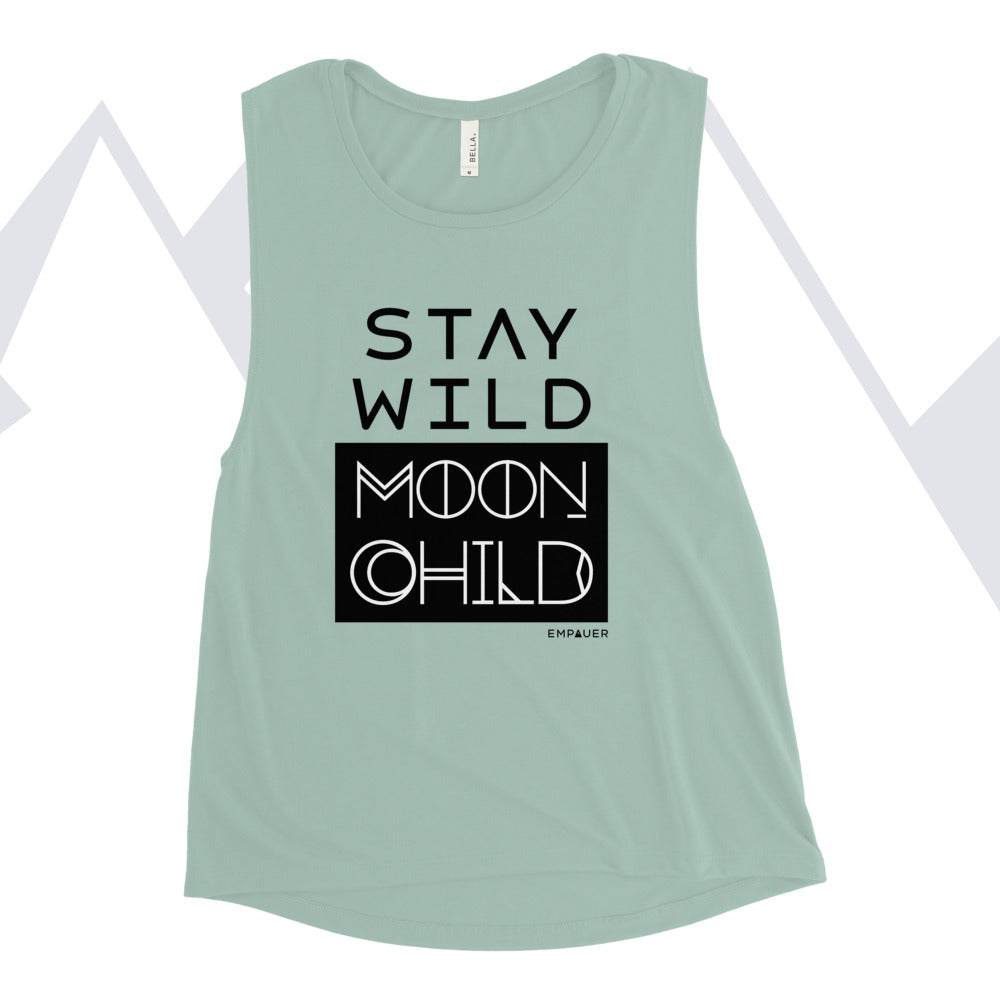 """Stay Wild Moon Child"" Muscle Tank"