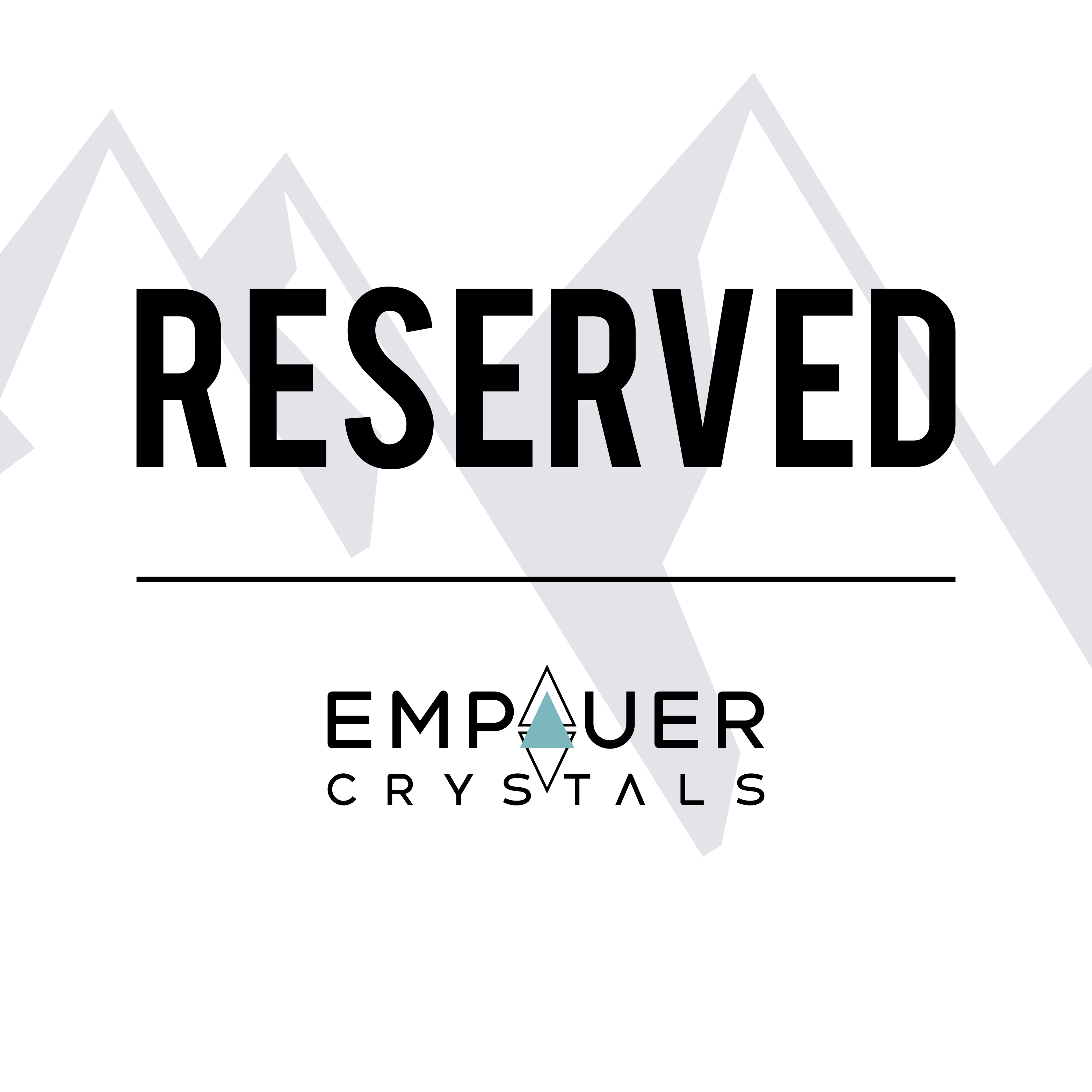Reserved Crystal Order for @uraverage_tea