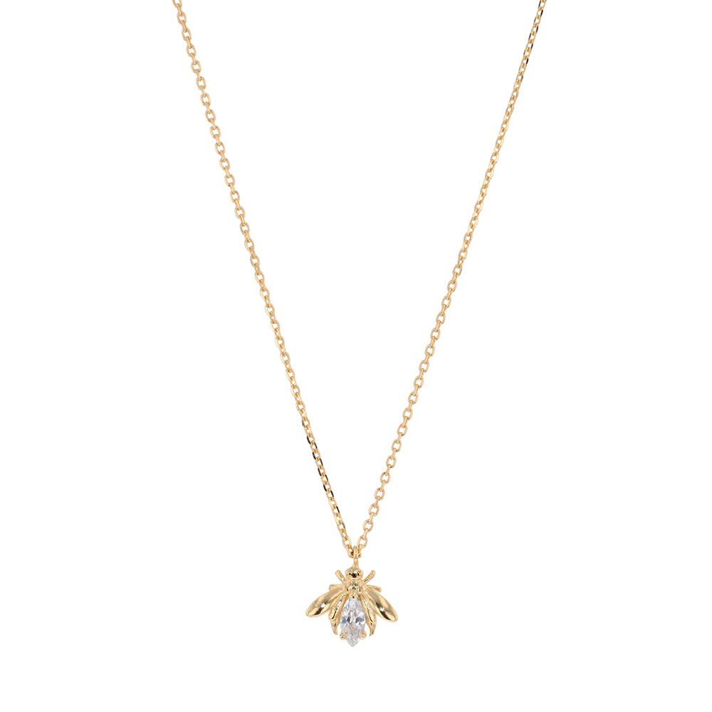 JOLIE AND DEEN CRYSTAL BEE NECKLACE