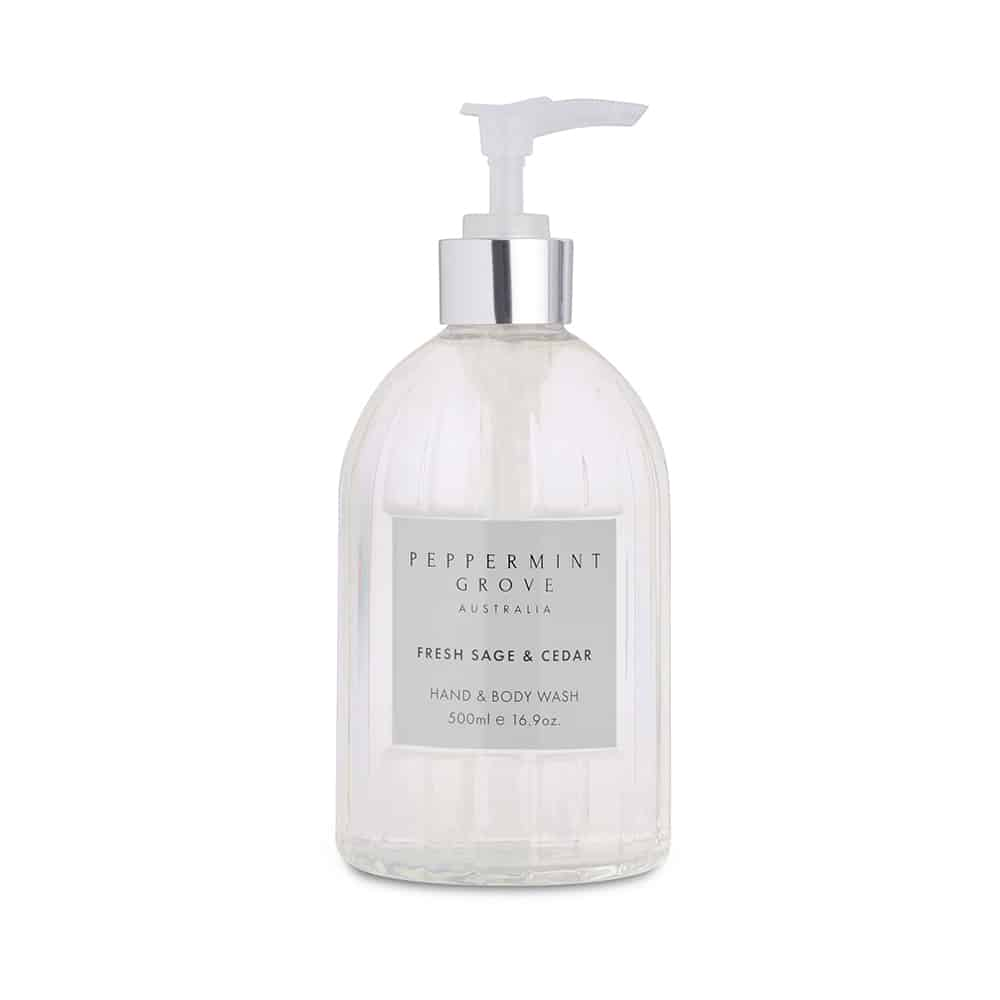PEPPERMINT GROVE - FRESH SAGE + CEDAR HAND AND BODY WASH