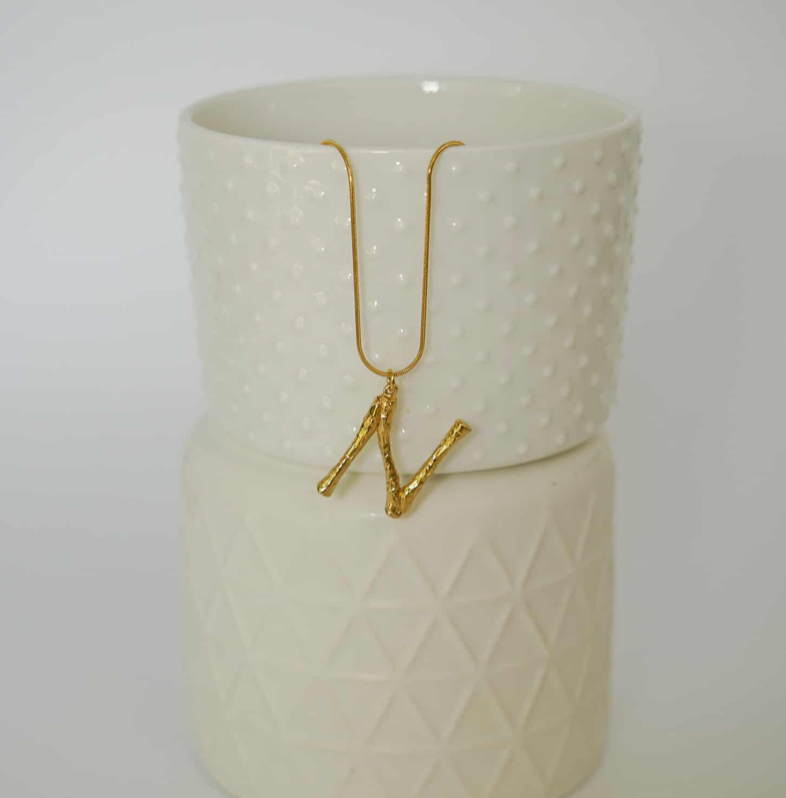 ALPHABET A-Z GOLD PLATED NECKLACE