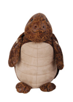 LEATHER ANIMAL DOORSTOP LARGE - TURTLE