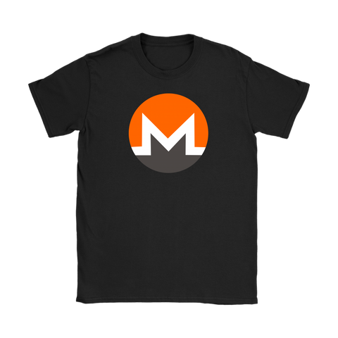 Monero Token Logo Womens Slimfit T-Shirt - King Kong Crypto™