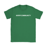 XRP Hashtag XRP Community Slim Fit Womens T-Shirt - King Kong Crypto™