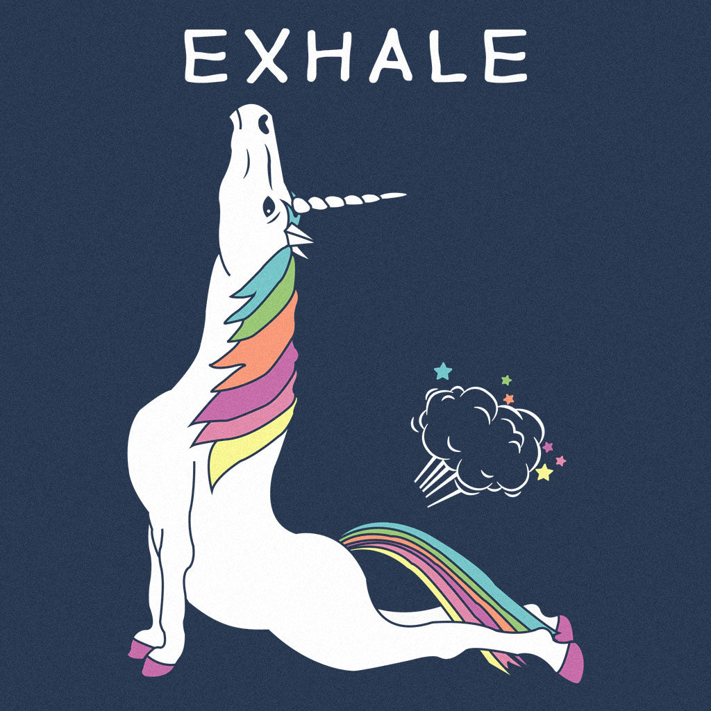 Inhale Exhale Unicorn The Honest Shirts Inhalation And Exhalation Diagram On Inhaling Exhaling