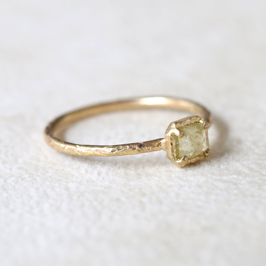 0.30ct pale yellow diamond  ring