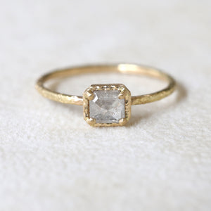 0.53ct grey diamond  ring