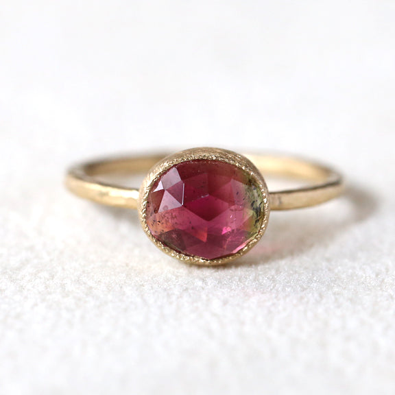 2.03ct bi color tourmaline Ring