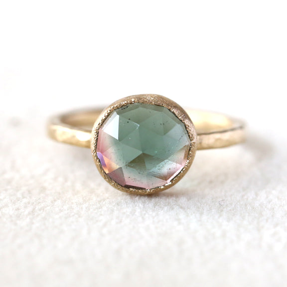 2.34ct bi color tourmaline Ring