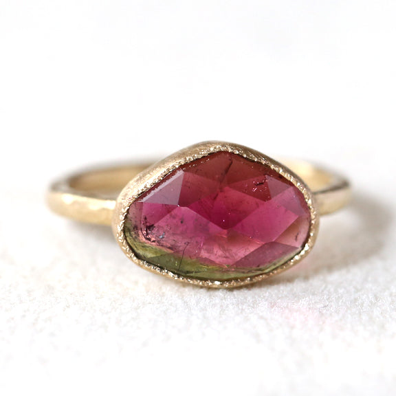 3.02ct bi color tourmaline Ring