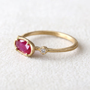 0.46ct Ruby Muguet Ring