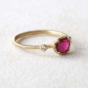 0.60ct Ruby Muguet Ring