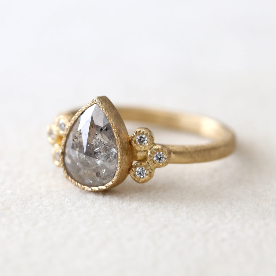 1.59ct grey diamond ring