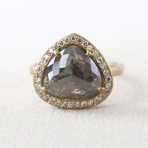 3.40ct grey diamond  ring