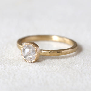 0.59ct  Icy grey diamond ring