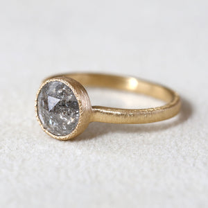 1.61ct  grey diamond ring