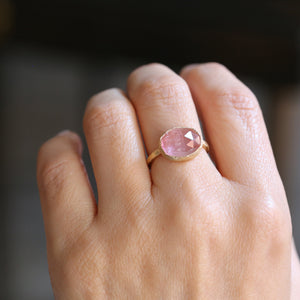 4.71ct peach pink Tourmaline Ring