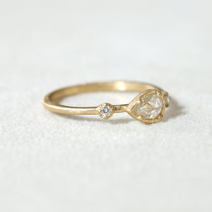 0.18ct clear rose cut diamond Muguet Ring