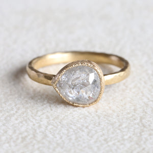 2.06ct Icy grey diamond ring