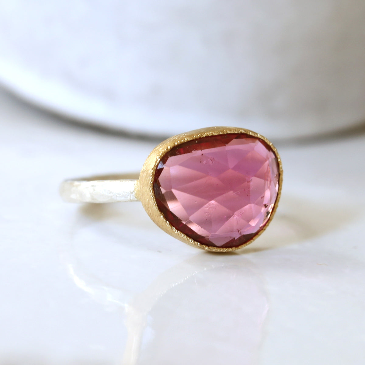 4.07ct Pink Tourmaline Ring